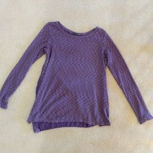 Anthropologie Left of Center mauve purple tunic